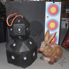 Skydeskiver og 3D dyr