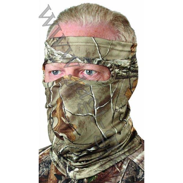 Spandex 3/4 ansigtsnet i RealTree Xtra m. sølvtråde